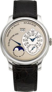 F.P. Journe Octa Lune Very Fine Platinum Chronometer Wristwatch With 120 Hour Power Reserve, Date & Moon Phases