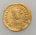 Ancients:Byzantine, Ancients: Anastasius I (AD 491-518). AV solidus (21mm, 4.42 gm,6h)....