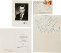 Autographs:Statesmen, Robert F. Kennedy Autograph Notes (2) Signed... (Total: 4 Items)