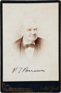 Autographs:Celebrities, Phineas T. Barnum Cabinet Card Signed...