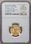 Ancients:Byzantine, Ancients: Justinian I the Great (AD 527-565). AV solidus (20mm, 4.49 gm, 6h)....