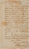 Autographs:U.S. Presidents, [Revolutionary War]. George Washington Letter Signed...