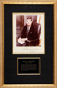 John F. Kennedy Photograph Signed