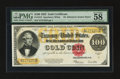 Large Size:Gold Certificates, Fr. 1215 $100 1922 Gold Certificate PMG Choice About Uncirculated58 EPQ.. ...
