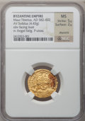 Ancients:Byzantine, Ancients: Maurice Tiberius (AD 582-602). AV solidus (21mm, 4.43 gm,6h). ...