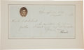 Autographs:U.S. Presidents, Abraham Lincoln Letter Signed...