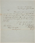Autographs:U.S. Presidents, Zachary Taylor Letter Signed...