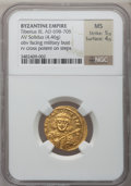 Ancients:Byzantine, Ancients: Tiberius III (AD 698-705). AV solidus (20mm, 4.46 gm,6h)....
