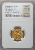 Ancients:Byzantine, Ancients: Basil I, with Constantine (AD 867-886). AV solidus (19mm,4.39 gm, 7h)....