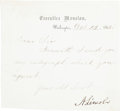 Autographs:U.S. Presidents, Abraham Lincoln Letter Signed. ...