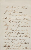 Autographs:Celebrities, Emperor Norton Autograph Letter Signed...