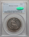 Seated Half Dollars: , 1871-S 50C VF30 PCGS CAC. PCGS Population (2/108). NGC Census:(3/79). Mintage: 2,178,000. Numismedia Wsl. Price for proble...