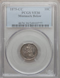 Seated Dimes: , 1875-CC 10C Mintmark Below Bow VF30 PCGS PCGS Population (5/64).Numismedia Wsl. Price for problem free...