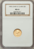 Commemorative Gold, 1905 G$1 Lewis and Clark MS61 NGC....