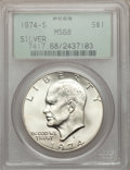 Eisenhower Dollars: , 1974-S $1 Silver MS68 PCGS. PCGS Population (908/3). NGC Census: (135/1). Mintage: 1,900,156. Numismedia Wsl. Price for pro...