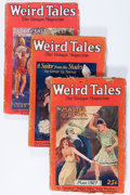 Pulps:Horror, Weird Tales Group (Popular Fiction, 1927-28) Condition: AverageGD/VG.... (Total: 6 Items)