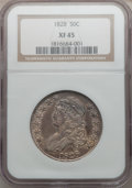 Bust Half Dollars: , 1828 50C Curl Base 2, No Knob XF45 NGC. NGC Census: (76/629). PCGSPopulation (59/424). Mintage: 3,075,200. Numismedia Wsl....