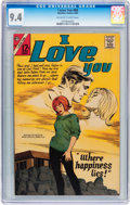 Silver Age (1956-1969):Romance, I Love You #69 (Charlton, 1967) CGC NM 9.4 Off-white to white pages....