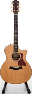 Musical Instruments:Acoustic Guitars, 2008 Taylor 814CE Natural Acoustic Electric Guitar, Serial # 20080318105....
