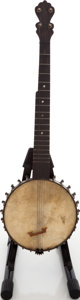 Musical Instruments:Banjos, Mandolins, & Ukes, Unknown Brown Stain 5-String Tenor Banjo....