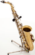 Musical Instruments:Horns & Wind Instruments, Late 1960s Buescher Aristocrat Brass Alto Saxophone, Serial # 448344....