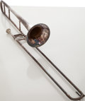 Musical Instruments:Horns & Wind Instruments, Circa 1927 J.W. York & Sons Silver Trombone, Serial # 89409....