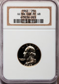 Proof Washington Quarters: , 1962 25C PR68 Ultra Cameo NGC. NGC Census: (154/43). PCGSPopulation (182/51). Numismedia Wsl. Price for problem free NGC/...