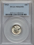 Mercury Dimes: , 1923 10C MS63 Full Bands PCGS. PCGS Population (161/880). NGCCensus: (80/542). Mintage: 50,130,000. Numismedia Wsl. Price ...