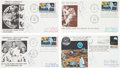 Autographs:Celebrities, Neil Armstrong: Eight Signed Philatelic Covers, Circa 1970. ... (Total: 9 Items)