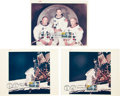 """Explorers:Space Exploration, Apollo 11: Three First Day-Cancelled Original NASA Color Glossy""""Red Number"""" Photos from the Collection of a NASA Photo Librar...(Total: 3 Items)"""