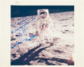 Autographs:Celebrities, Apollo 11 Crew-Signed Original NASA Color Glossy Photo from theCollection of a NASA Photo Librarian. ...