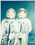 """Autographs:Celebrities, Gemini 3: Crew-Signed Color Photo Directly from the PersonalCollection of NASA Flight Controller Manfred """"Dutch"""" vonEhrenfri..."""