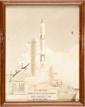 """Autographs:Celebrities, Gemini 5: Crew-Signed Color Photo Directly from the PersonalCollection of NASA Flight Controller Manfred """"Dutch"""" von Ehre..."""