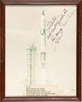 """Autographs:Celebrities, Gemini 10: Crew-Signed Color Photo Directly from the PersonalCollection of NASA Flight Controller Manfred """"Dutch"""" von Ehr..."""
