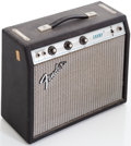 Musical Instruments:Amplifiers, PA, & Effects, Late 1960s Fender Champ Black Guitar Amplifier, Serial #A632010....
