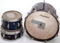 Musical Instruments:Drums & Percussion, 1960s Slingerland Midnight Blue Sparkle 3-Piece Drum Kit. ...