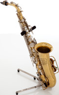 Musical Instruments:Horns & Wind Instruments, Late 1960s Selmer Bundy Brass Alto Saxophone Serial # 425929....