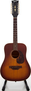 Musical Instruments:Acoustic Guitars, Early 1970s Gibson B-45-12 Sunburst 12-String Acoustic Guitar, Serial # 926332...