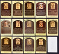 Baseball Collectibles:Others, Baseball Greats Signed Hall of Fame Plaque Postcards Lot of 15....