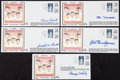 Baseball Collectibles:Others, Baseball Greats Signed First Day Covers Lot of 5....