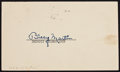 Baseball Collectibles:Others, Billy Martin Signed Government Postcard...