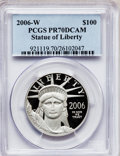 Modern Bullion Coins, 2006-W $100 One-Ounce Platinum Eagle PR70 Deep Cameo PCGS. PCGSPopulation (156). NGC Census: (576). Numismedia Wsl. Price...