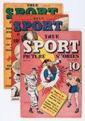Golden Age (1938-1955):Non-Fiction, True Sport Picture Stories Group (Street & Smith, 1943-49)Condition: Average VG.... (Total: 9 Comic Books)