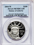 Modern Bullion Coins, 2004-W P$100 One-Ounce Platinum Eagle PR70 Deep Cameo PCGS. PCGSPopulation (90). NGC Census: (0). Numismedia Wsl. Price f...