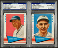 Baseball Cards:Autographs, 1961 Fleer George Uhle and Bob Shawkey Signed Cards Lot of 2....