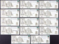 Baseball Collectibles:Others, Baseball Greats Signed First Day Covers Lot of 14....