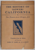 Books:Americana & American History, Don Francisco Javier Clavigero. The History of [Lower]California. Stanford University, 1937. First Englishlanguage...