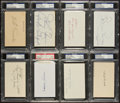 Baseball Collectibles:Others, Yankees Greats Signed Index Cards Lot of 8 - PSA Authenticated. ...