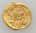 Ancients:Byzantine, Ancients: Justin II (AD 565-578). AV light-weight solidus (of 22siliquae) (4.06 gm)....