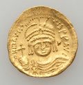 Ancients:Byzantine, Ancients: Maurice Tiberius (AD 582-602). AV light-weight solidus(of 23 siliquae) (4.37 gm)....